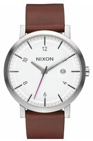 Nixon Men's 'Rollo' Leather Strap Watch, 42Mm