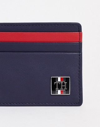 Tommy Hilfiger plaque logo cardholder in navy
