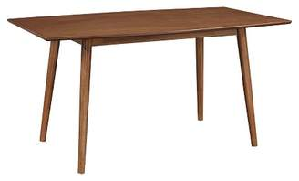 """Saracina Home 60"""" Wood Mid - Century Kitchen Dining Table - Brown"""