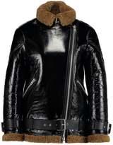 AllSaints HAWLEY OVERSIZED SHEARLING Light jacket black