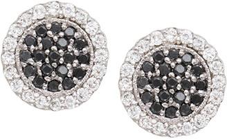 Jamie Wolf Scallop Pave Black & White Diamond Earrings