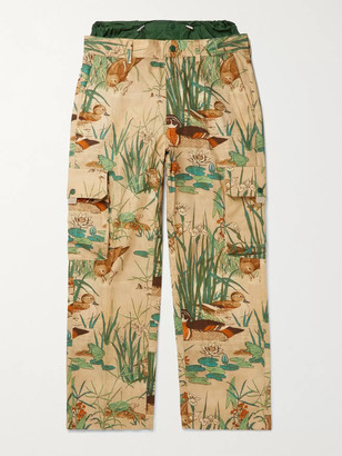 MONCLER GENIUS 1 Moncler JW Anderson Printed Cotton-Twill Cargo Trousers - Men - Neutrals