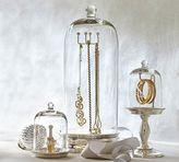 Pottery Barn Glass Cloche Jewelry Storage