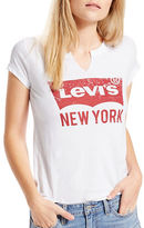 Levi's Outlet NYC White Short Sleeve Tee