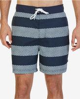 "Nautica Men's Quick Dry Striped 8 1/2"" Swim Trunks"