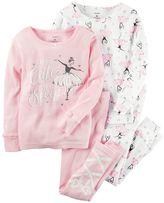 Carter's Girls 4-12 4-pc. Ballerina Pajama Set