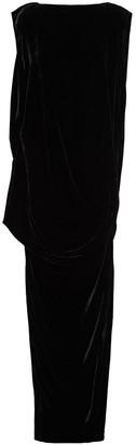 Rick Owens Draped Velvet Maxi Dress