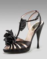 Satin Rose Sandal