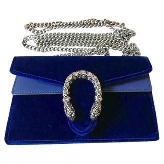 Gucci Dionysus Blue Velvet Handbags