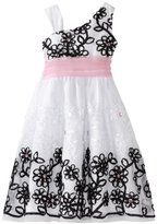 Rare Editions Girls 7-16 Mesh With Soutach Dress