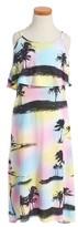 Flowers by Zoe Girl's Palm Tree Maxi Dress