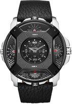 Diesel Men's Chronograph Black Leather Strap Watch 50x57mm DZ7384