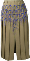 Marco De Vincenzo bow applique pleated skirt - women - Polyester - 42