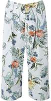 Dorothy Perkins Womens Petite Multi Coloured Botanical Floral Print Cropped Trousers