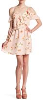 Blu Pepper Cold Shoulder Floral Dress
