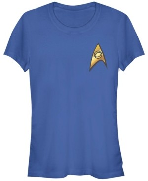 Fifth Sun Star Trek Original Series Women's Sciences Badge Short Sleeve Tee Shirt
