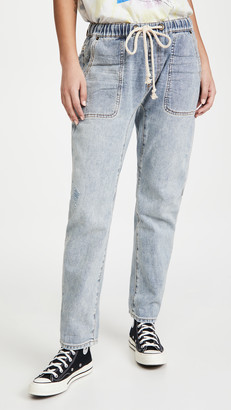 One Teaspoon Montana Shabbies Drawstring Boyfriend Jeans