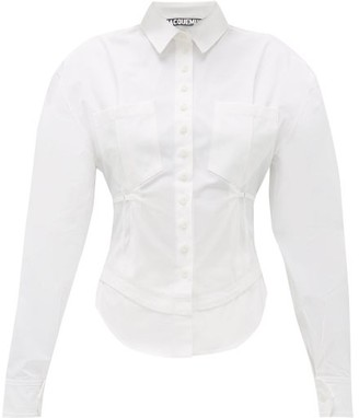 Jacquemus Cueillette Fitted-waist Cotton Shirt - White