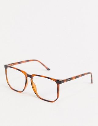 Quay Stranger unisex blue light glasses in tort