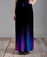Azalea Black Abstract Maxi Skirt - Plus Too