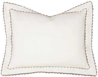 Bramble Tailored Sham - White/Tan - Celerie Kemble - standard