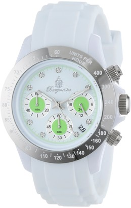 Burgmeister BM514-586A Florida Ladies watch Analogue display Chronograph with Seiko Movement - Water resistant Sporty and trendy silicone strap Fashionable women's watch