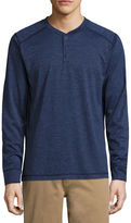 ST. JOHN'S BAY St. John's Bay Long Sleeve Performance Henley Shirt
