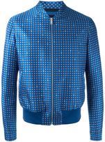 Alexander McQueen printed bomber jacket - men - Cotton/Viscose/Wool/Nylon - 48