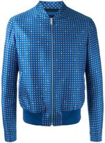 Alexander McQueen printed bomber jacket - men - Silk/Cotton/Nylon/Wool - 48