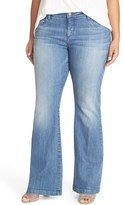 KUT from the Kloth Plus Size Women's 'Chrissy' Stretch Flare Leg Jeans