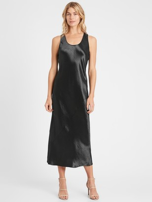 Banana Republic Bias-Cut Satin Slip Dress