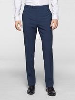 Calvin Klein X Fit Ultra Slim Fit Blue Plaid Suit Pants