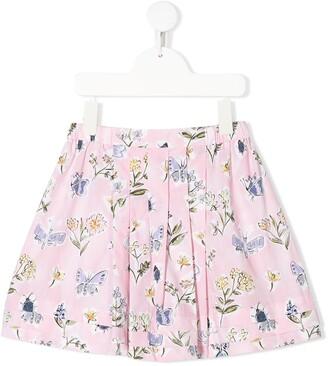 Il Gufo Floral Print Skirt