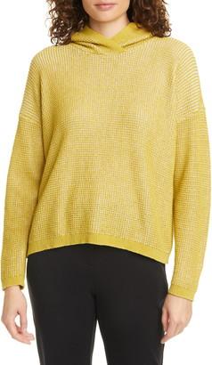 Eileen Fisher Organic Cotton Blend Hooded Sweater