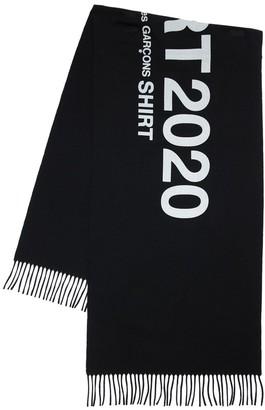 Comme des Garçons Shirt Logo Jacquard Wool Scarf