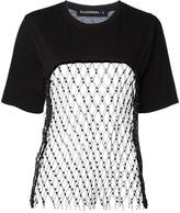Filles a papa mesh panel T-shirt - women - Cotton/Sheep Skin/Shearling/Polyester - I