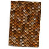 3D Rose Print of Copper and Brass Scales TWL_205068_1 Towel