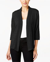 NY Collection Petite Pointelle Cardigan