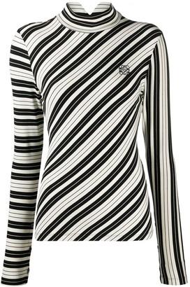 Loewe Diagonal-Stripe Long-Sleeve Top