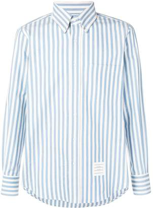 Thom Browne University Stripe Herringbone Shirt