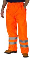 Forever Mens Hi Viz Waterproof Rain Over Trousers High Vis Visibility Elasticated Pants