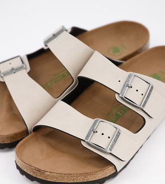Birkenstock arizona vegan-friendly sandals in stone