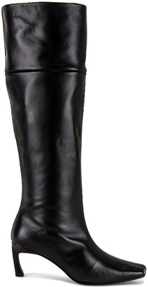 Reike Nen Pointed Square Mid Heel Long Boots
