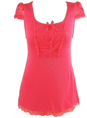 Pink Label Whitley Short Sleeve Top