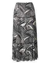 Web Plisse Maxi Skirt Length 35in
