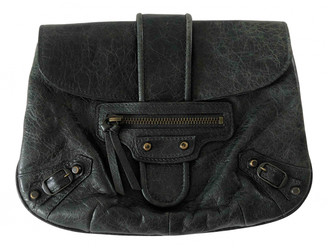 Balenciaga City Anthracite Leather Clutch bags