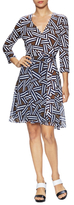 Diane von Furstenberg Irina Silk Printed Wrap Dress