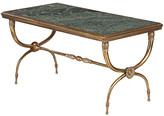 One Kings Lane Vintage 1940s French Midcentury Coffee Table - Negrel Antiques - green/gold