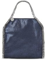 Stella McCartney ink falabella shiny dotted chamois mini tote