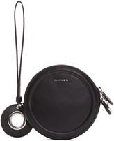 Carven Black Circular Zip Pouch